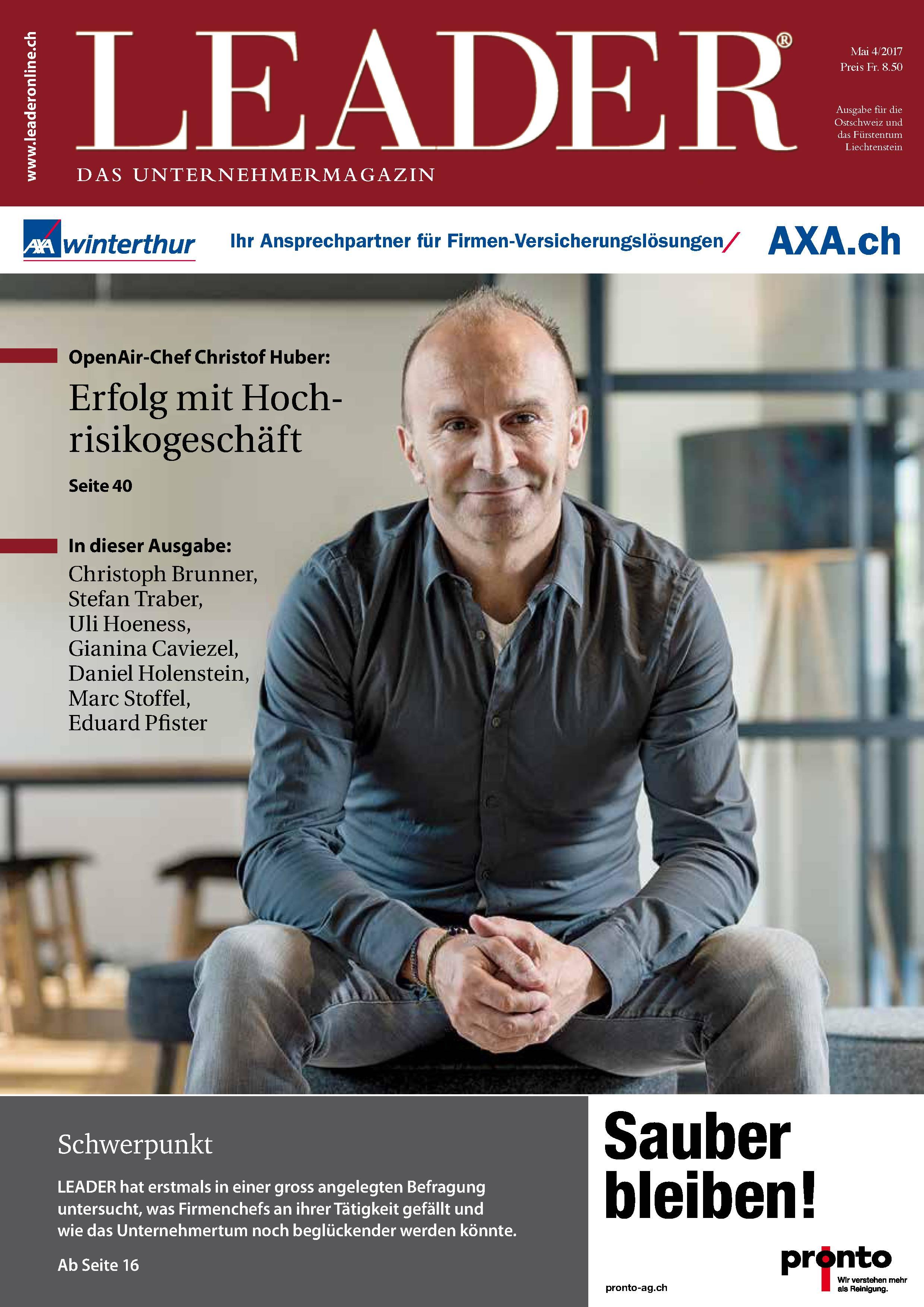 Cover vom Magazin Leader