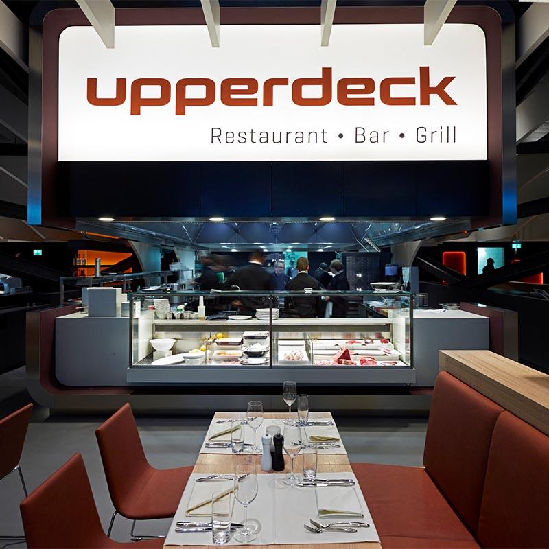 Tisch im Restaurant Upperdeck