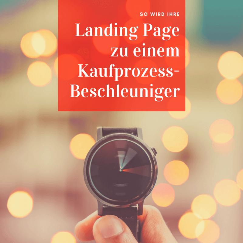 Beitragsbild Landingpage Kaufprozess-Beschleuniger