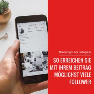 Beitragsbild Neuerungen bei Instagram