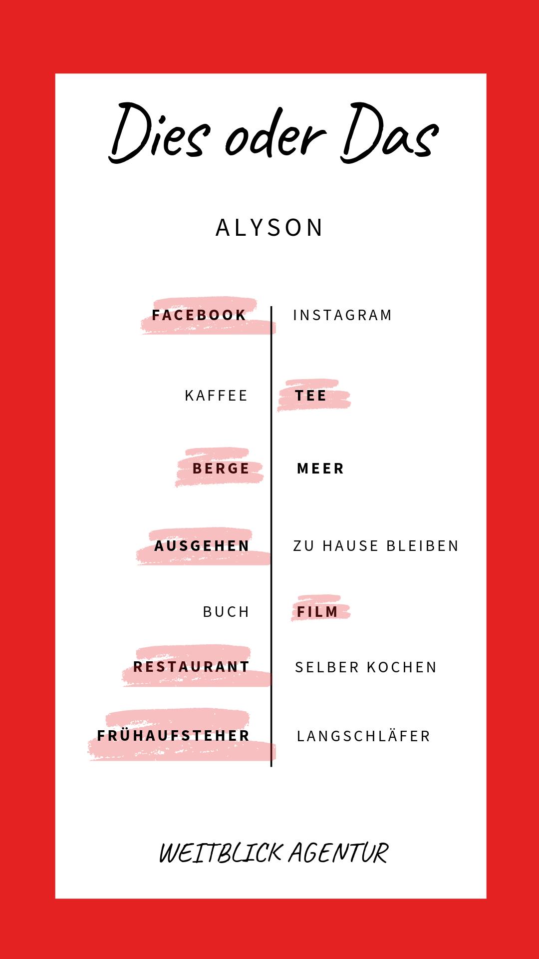 Dies oder das Alyson