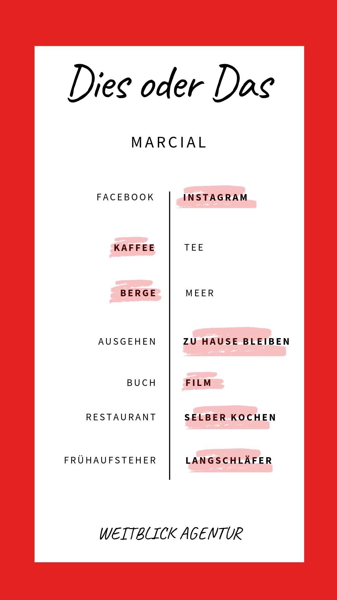 Dies oder das Marcial