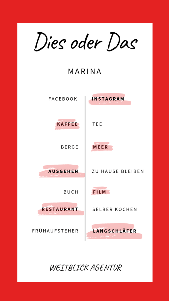 Dies oder das Marina