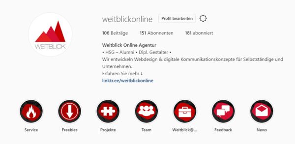Instagram Weitblick Linktree