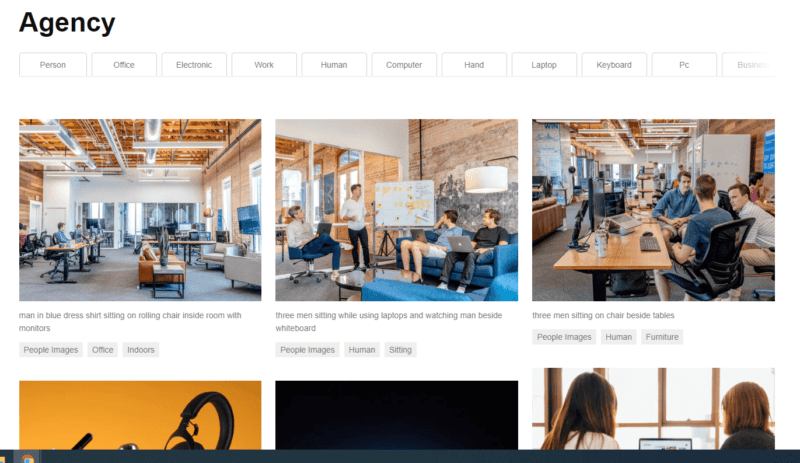 Unsplash Online Marketing Tool Beispiel