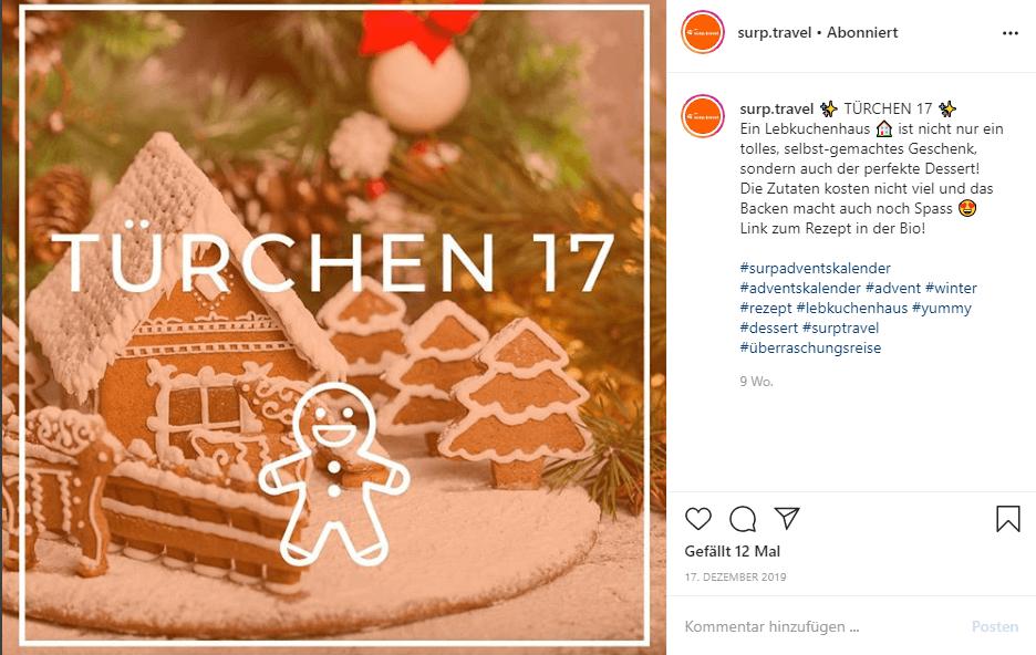 Surp Adventskalender zur Weihnachtszeit